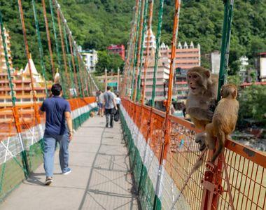 O franțuzoaică a fost arestată după ce a mers dezbrăcată pe un pod sacru din India