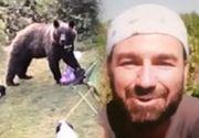 VIDEO - Atacați de urși în cort
