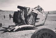 Accident teribil la Raliul Iaşului: maşina lui Simone Tempestini şi Sergiu Itu a fost distrusă