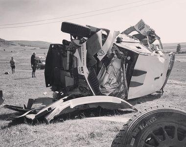 Accident teribil la Raliul Iaşului: maşina lui Simone Tempestini şi Sergiu Itu a fost...