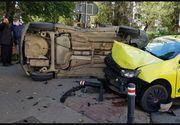 Un preot din Suceava s-a răsturnat cu mașina după ce a lovit un taxi. Polițiștii au avut parte de o surpriză