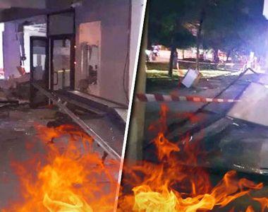 VIDEO - Explozie la bancomate: Aparatele au fost aruncate în aer cu ajutorul unor...