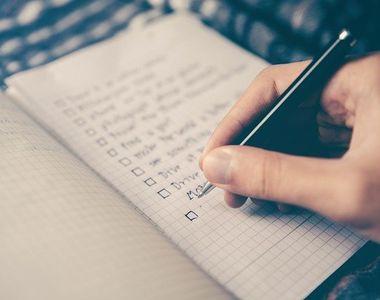 Importanta realizarii listelor pentru activitatea ta de zi cu zi