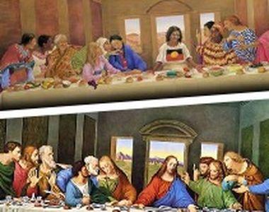 VIDEO - Cina cea de Taină, pictată cu femei. Pictorița: Eu sunt creștină și credincioasă!