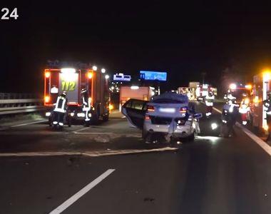 VIDEO - Patru români striviți într-un accident cumplit