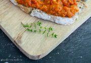 VIDEO - Zacusca, mâncare preferată pentru români. Gospondină: Legumele, coapte pe grătar