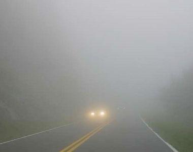 Este cod galben de ceață. Meteorologii au făcut anunțul