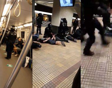 Imagini șocante în stația de metrou Ștefan cel Mare din Capitală. Jandarmii au...
