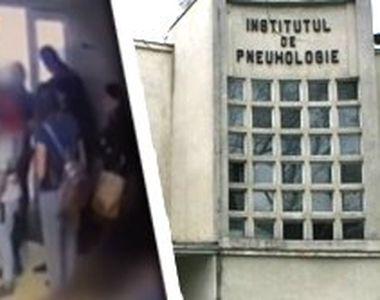 VIDEO - Scandal uriaș la Pneumologie. Rudele pacientul, urcate pe geam