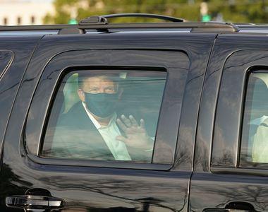 Donald Trump, plimbare cu mașina pentru a-și saluta fanii. Confuzie cu privire la...