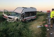 VIDEO - Accident grav cu autobuz. Muncitori răniți