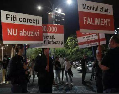 """""""Meniul zilei: șomaj!"""". Protest în fața Guvernului al angajaților din..."""