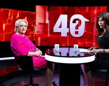 Viorica Dăncilă va răspunde celor 40 de întrebări adresate de Denise Rifai, astăzi, de...