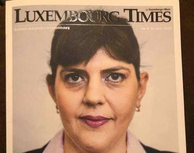 Laura Codruța Kovesi, apariție de senzație pe coperta unei reviste din Luxemburg!...