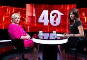 """Viorica Dancila nu a refuzat nicio intrebare din cele adresate aseara in cadrul emisiunii """"40 de intrebari cu Denise Rifai"""""""