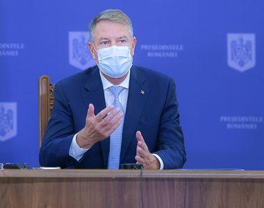 """Klaus Iohannis: """"Este evidentă necesitatea introducerii de noi măsuri restrictive...."""