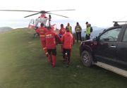VIDEO - Salvamontișitii, intervenție dificilă cu elicopterul