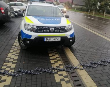 Poliția Română a introdus benzile cu țepi pentru prinderea șoferilor fugari
