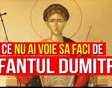 Sărbătoare mare pentru români: Ce nu este bine să faci de Sf. Dumitru 2020?