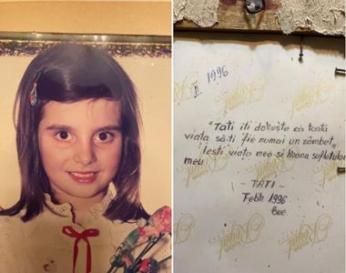 Mesajul emoționant scris de câțiva zeci de ani de un tată pentru fetița lui pe un...