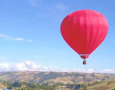 VIDEO - Românii, vacanțe inedite. Zbor cu balonul cu aer cald