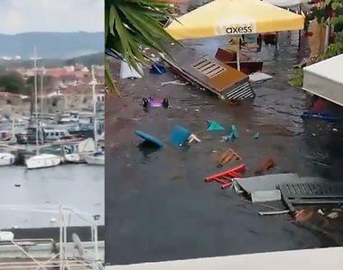 VIDEO - Un  tsunami de mici dimensiuni a provocat pagube după cutremurul din Turcia-Grecia
