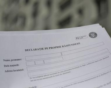 Prefectura Sibiu a publicat modelul declaraţiei pe propria răspundere necesară pe...