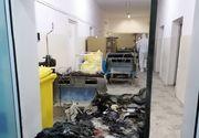 Primele imagini cutremurătoare din interiorul secției ATI care a ars la Spitalul din Piatra Neamț