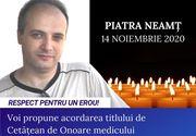 Medicul erou din cadrul SJU Neamț, rănit în timp ce salva pacienți este propus pentru titlul de Cetățean de Onoare de către Primarul din Focșani