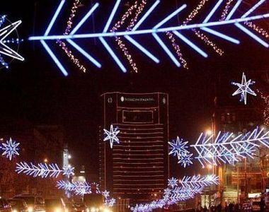 Când vor fi aprinse luminițele de sărbători în București