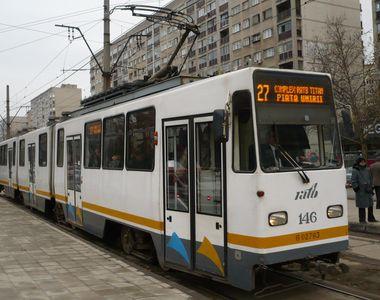 Circulaţia tramvaielor, suspendată în week-end pe anumite bulevarde din Capitală