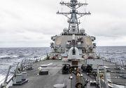 O navă de război americană a fost alungată din apele teritoriale ale Rusiei