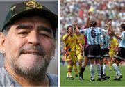 Maradona a murit. Coșmarul marelui fotbalist în meciul Argentinei cu România de la CM 1994