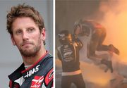 Miraculos! Pilotul francez de Formula 1 Romain Grosjean iese viu și nevătămat din bolidul care s-a rupt în două și a luat foc