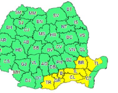 Codul galben de ninsori a fost prelungit pentru Capitală și 7 județe