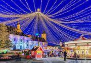 Sărbătorile de iarnă// Beculețele de Crăciun s-au aprins deja în orașele României - VIDEO