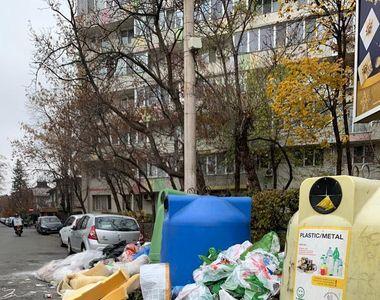Haos în sectorul 1 din București. Străzile sunt pline de gunoi menajer, iar trecătorii...