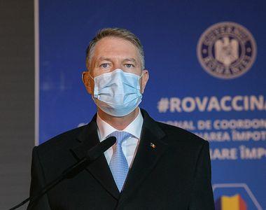 Klaus Iohannis: Unii români vor fi vaccinați de două ori împotriva Covid (VIDEO)