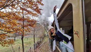 VIDEO - Ce faci în weekend? O călătorie cu mocănița de la Vișeu de Sus