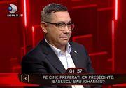 """Klaus Iohannis sau Traian Basescu? Răspuns neașteptat al lui Victor Ponta  la """"40 de întrebări cu Denise Rifai"""""""