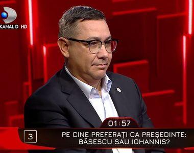 """Klaus Iohannis sau Traian Basescu? Răspuns neașteptat al lui Victor Ponta  la """"40 de..."""