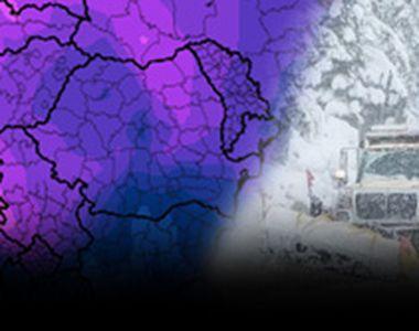 VIDEO - Iarna a lovit jumătate de țară. Drumurile au înghețat bocnă