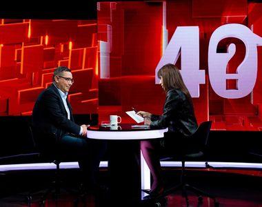 """Victor Ponta a dezvăluit aseară, în exclusivitate, la """"40 de întrebări cu Denise Rifai""""..."""