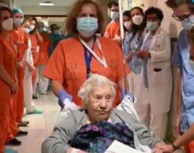 Femeia de 104 ani care s-a vindecat de coronavirus. Medicii i-au făcut externarea cu...