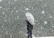 Alertă METEO! Cod galben de ninsori și viscol de Crăciun