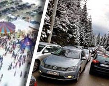 VIDEO - Românii își petrec vacanța de iarnă într-o aglomerație cruntă