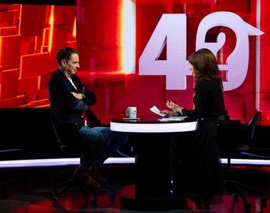 """Dan Negru, următorul invitat la """"40 de întrebări cu Denise Rifai"""", marți, 12 ianuarie,..."""