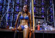 Sportiva paralimpică ce şi-a pierdut un picior, a câștigat un concurs de culturism