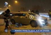 VIDEO - Români, prinși în iadul alb din Spania