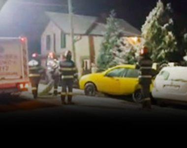 VIDEO - Accident cu șofer beat, fugar și fără permis